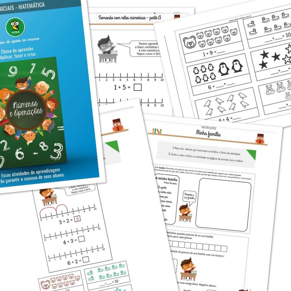 Aprendendo a somar - Retas numéricas usando símbolos