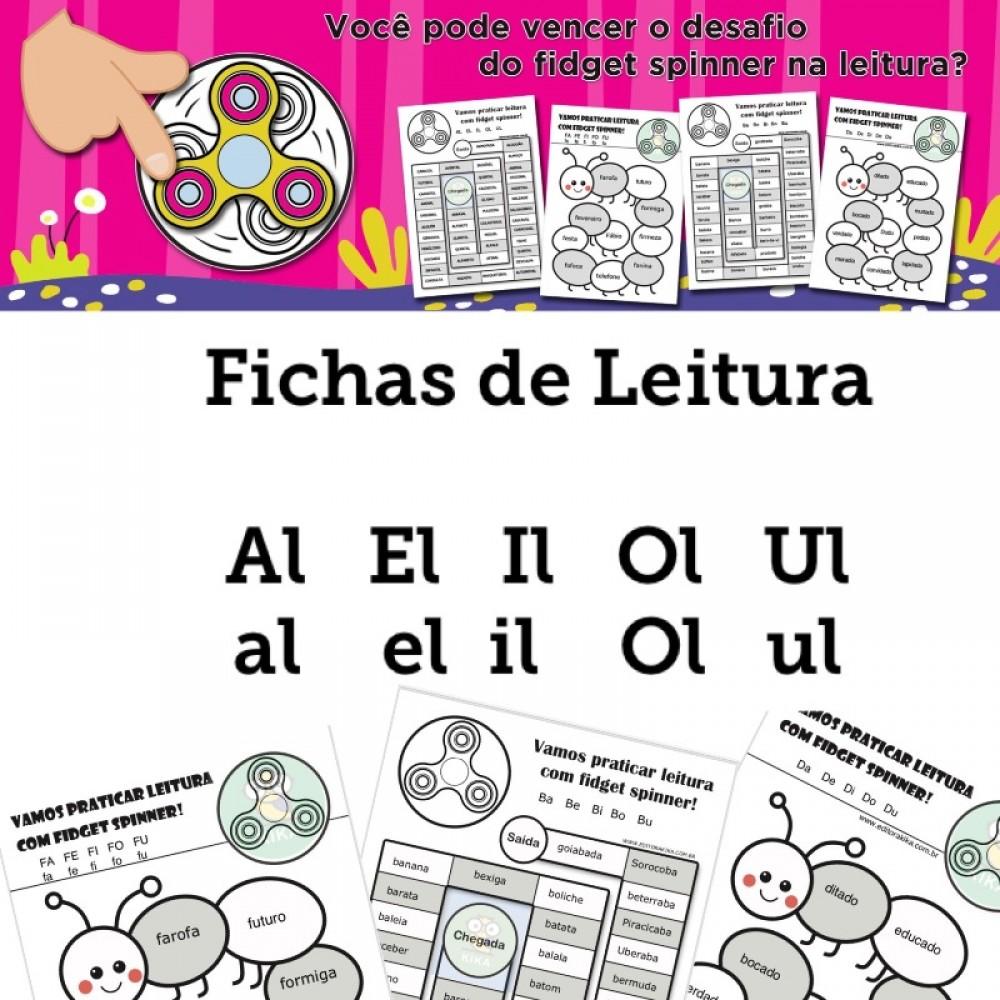Fichas de Leitura - Família AL EL IL OL UL