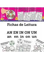 Fichas de Leitura - Família AN EN IN ON UN