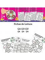Fichas de Leitura - Família ÇA ÇO ÇU